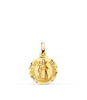 Medalla niño del remedio oro 18ktes joya bautizo bebe
