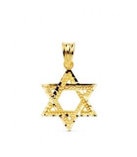 Colgante Estrella de David Oro Amarillo 18k