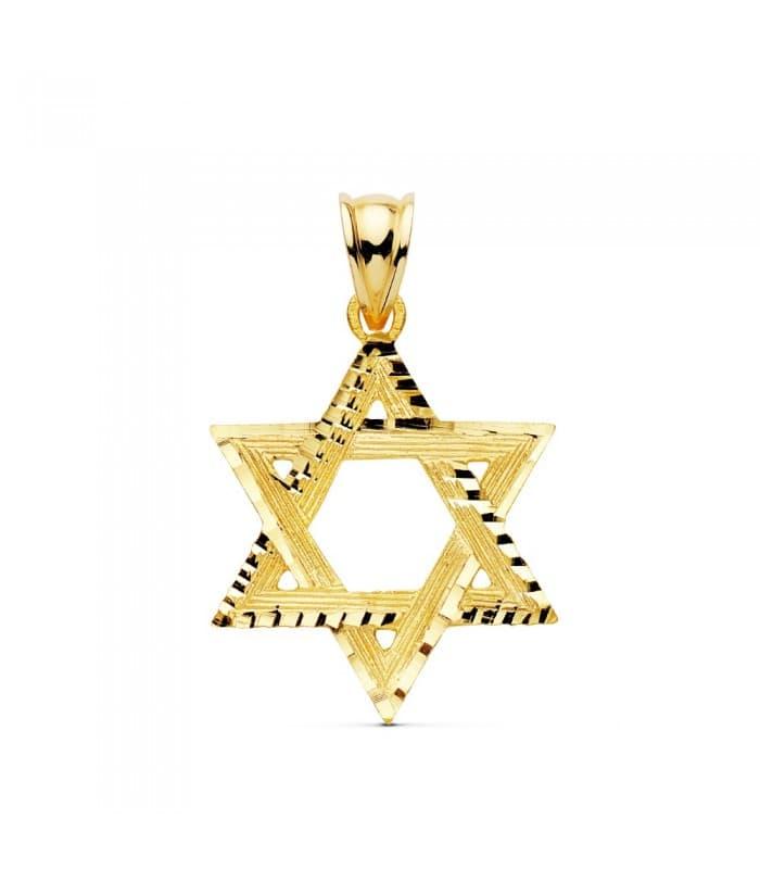 Colgante Estrella de David Oro Amarillo 18k 20mm