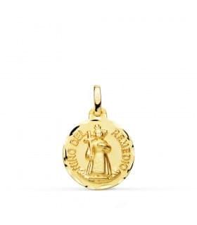 Medalla Niño del Remedio Oro 18k 16mm Tallado