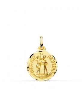 Medalla Virgen María Francesa Oro 18k 18mm