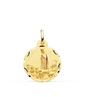 Medalla Virgen de Fátima 18 Ktes 20mm