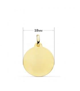 Colgante Medalla Virgen de la Candelaria tallada en oro de 18 kilates Joya religiosa personalizada grabado