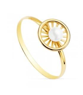 Sortija niña Comunión Chloe Oro 18K Orla anillo moderno barato conjunto joyas juego