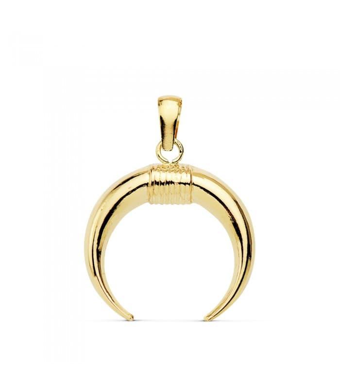 Gargantilla Cuerno Amulette Collection Oro Amarillo 18 K 16 MM