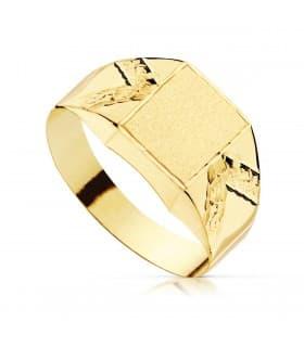 Sello cadete Zeus Oro Amarillo 18K anillo comunión niño joya personalizable grabado