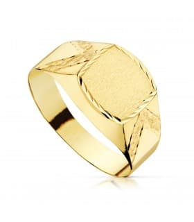 Sello cadete Máximo Oro Amarillo 18K anillo niño comunion