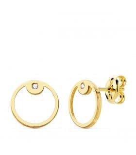 85211092b0e7 Pendientes Space Oro Amarillo 18K Círculo line minimal modernos joyas mujer  online