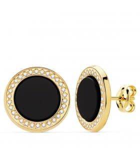 Pendientes Judy Oro Amarillo 18K Onix joyas mujer online