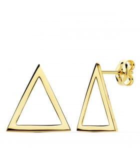 Pendientes Oro Amarillo 18K Triangle joyas minimal mujer online