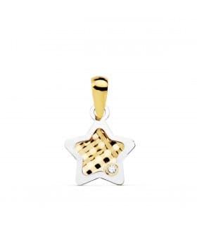 Colgante Niña Hera Oro Bicolor 18K Estrella joyas online