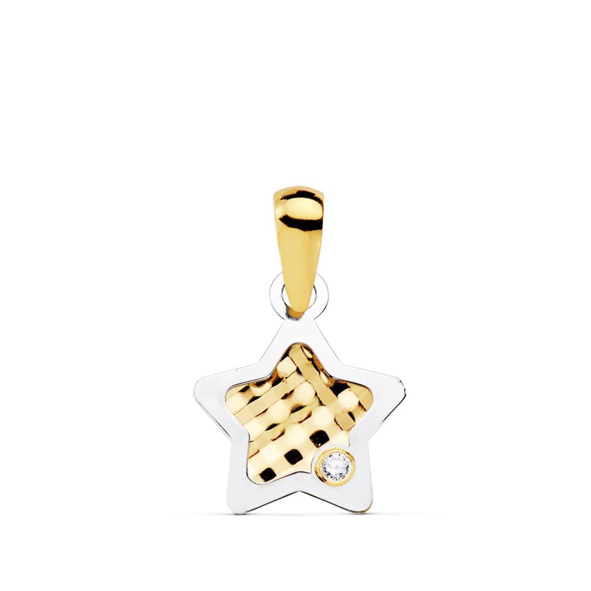 41ef6ab1aee8 Colgante Niña Hera Oro Bicolor 18K Estrella joyas online
