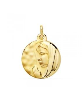 Medalla Virgen María 16 mm Oro Amarillo 18K