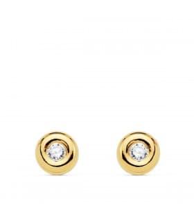 Pendientes Delicia Diamantes 0.140 Qtes. Oro Amarillo 18K