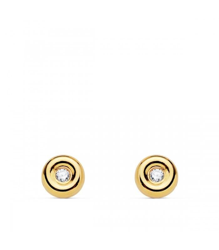 Pendientes chatón dormilona Delicia Diamantes 0.050 Qtes. Oro Amarillo 18K joyas mujer online