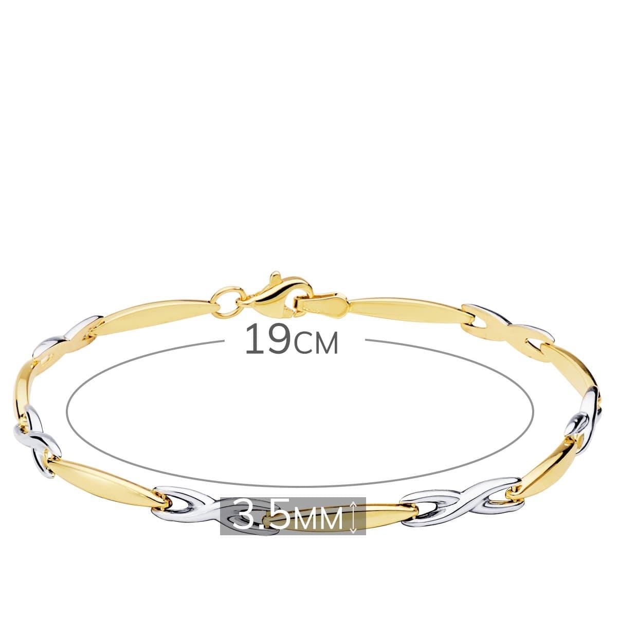 06b4173d258f ... Pulsera estampación Mujer Estambul Oro Bicolor 18K 750 eslabones
