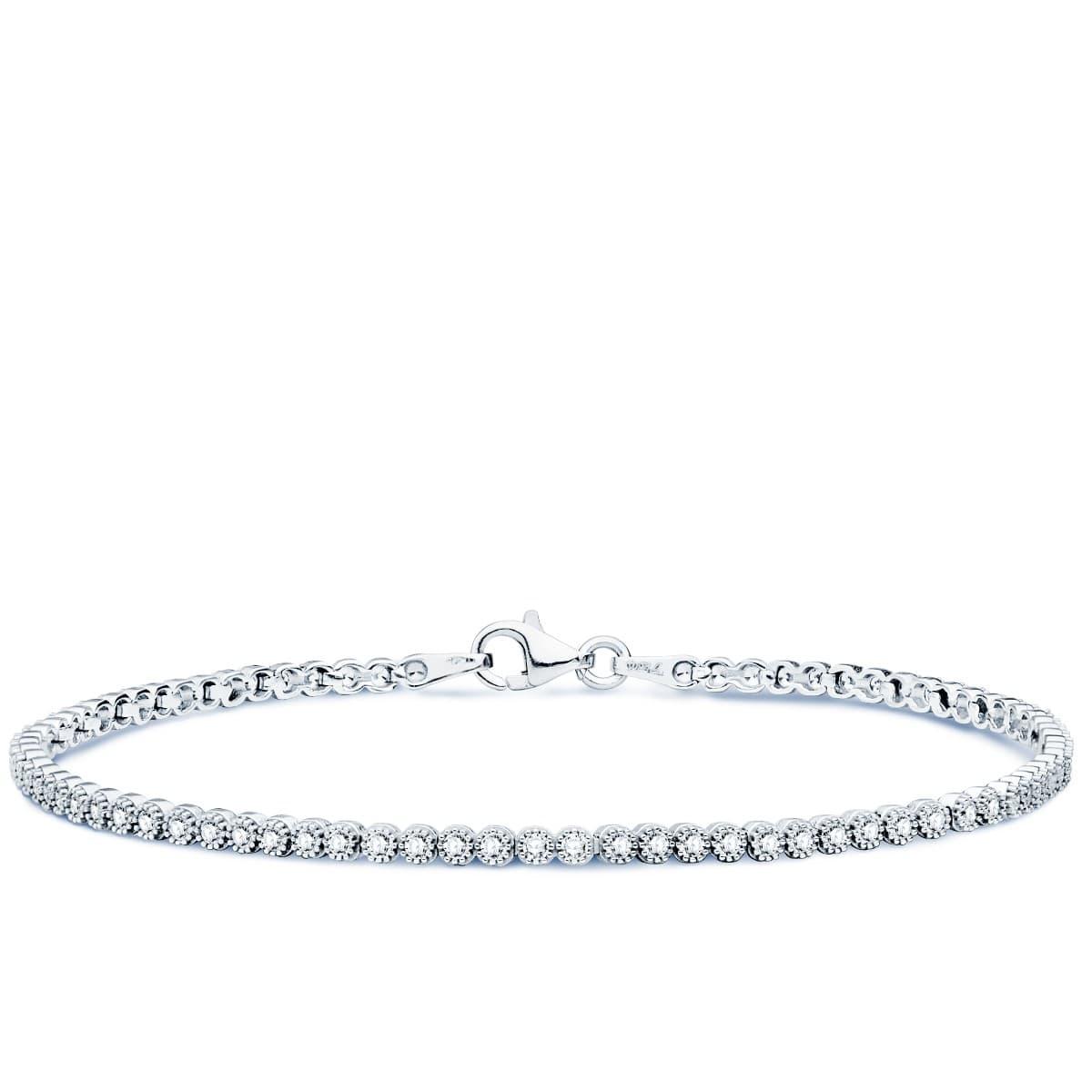 b33659da7aff Pulsera Riviere Novia Brigitte Oro Blanco 18K joyeria nupcial joyas boda  elegante ...