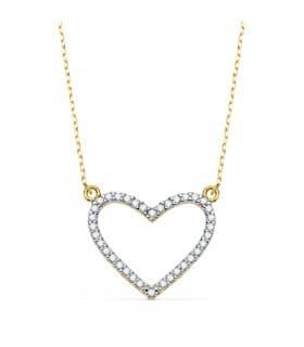 Gargantilla Spark Heart Oro Bicolor 18K 43 + 2cm
