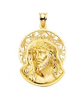 Colgante Cabeza Cristo Potencias Oro 18K 23mm