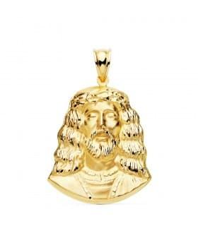 Colgante Busto de Cristo Oro Amarillo 18K 30 mm