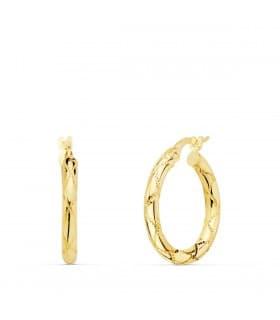 Aros Mujer Seam Oro Amarillo 18K 20 mm