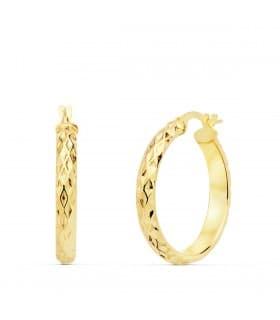 Aros Mujer Snake Oro Amarillo 18K 24 mm