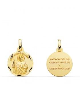 Medalla San Judas Tadeo colgante oración santo joya religiosa bautizo