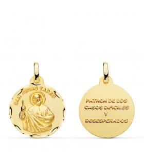 Medalla San Judas Tadeo joyas religiosas católicas santo oración
