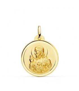 Medalla Corazón de Jesús bisel 22 mm