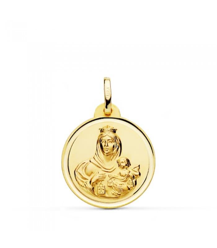 Medalla Virgen Carmen bisel 20mm