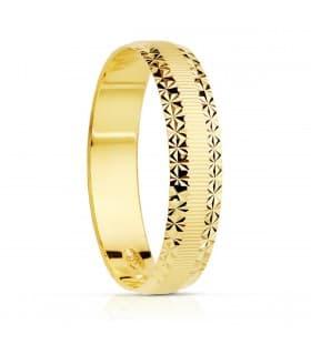 Alianza Toscana 4mm Oro Amarillo 18K anillo boda compromiso matrimonio