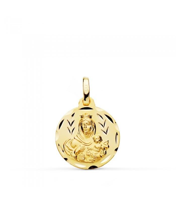 Medalla Virgen Carmen tallada 16mm