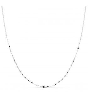 Cadena Oval Oro Blanco 18K 1.2mm 45cm cadenas joyeria online