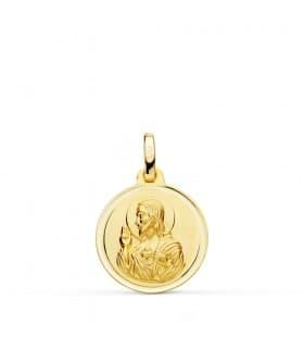 Medalla Corazón de Jesús bisel 16 mm
