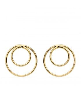 Pendientes Oro Amarillo Double Ring 18K