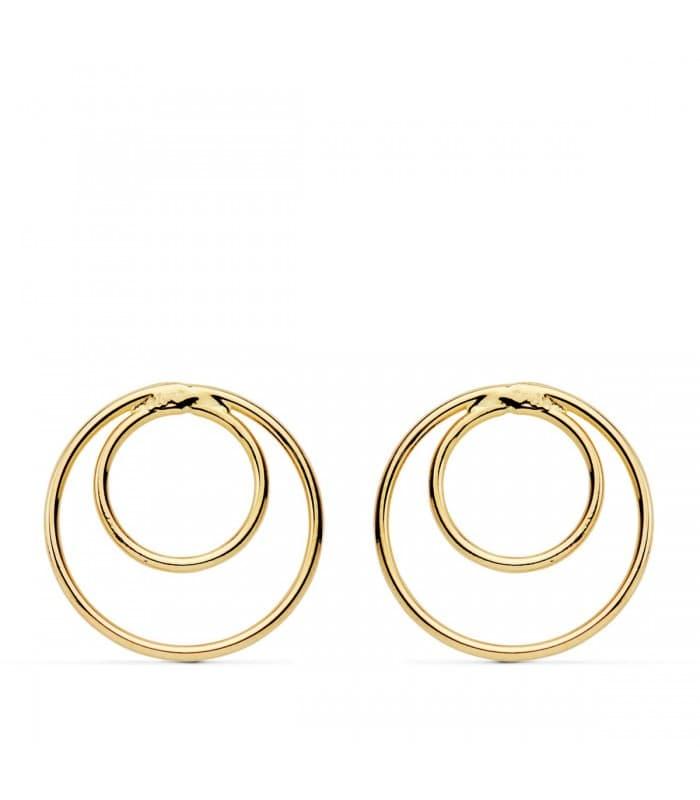 Pendientes Oro Amarillo Double Ring 18K