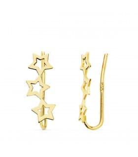 Pendientes Trepadores Estrellas Oro 18K regalo joyeria online mujer
