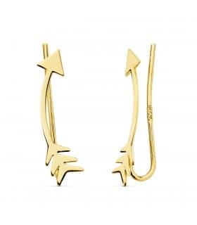 Pendientes Trepadores Flechas Oro 18K regalo mujer joyeria online