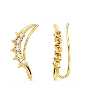 Pendientes Perlas Cultivadas Sophia Oro Amarillo 18 K 9,5 MM