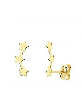 Pendientes Trepadores Oro 18K Mini Estrellas joyería online regalo mujer
