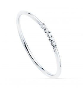 Anillo Hepburn Oro Blanco 18K Diamantes 0.025 Qts.