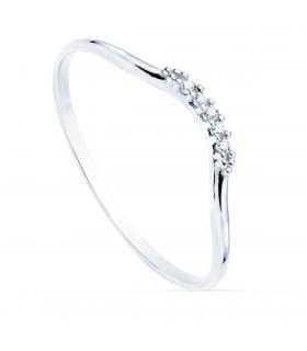 Anillo Monroe Oro Blanco 18K Diamantes 0.035 Qts.