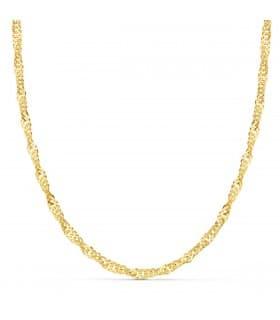 Cadena Singapur Oro Amarillo 18K 4mm 50cm