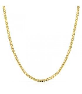Cadena Barbada 3 mm 18 Ktes 60cm collar eslabones hombre