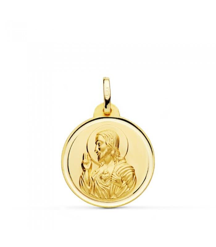 Medalla Corazón de Jesús bisel 20 mm