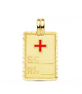 Placa RH Oro Amarillo 18 Ktes 24 mm