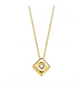 Gargantilla Chérie Diamantes 0.015 Qtes. OA 18K