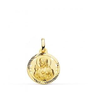 Medalla Corazón de Jesús Oro 18K 16 mm Calada