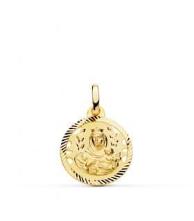 Medalla Virgen Carmen Oro 18K 16mm Calada