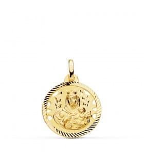 Medalla Virgen Carmen Oro 18K 18mm Calada